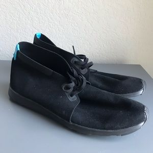 Native Black Lace Up Chukka Boot Shoe